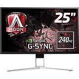 "Monitor LED Gamer Agon, 240Hz, 1 ms, HDMI, Display Port, USB, G-Sync, AOC, AG251FG, 24.5"""