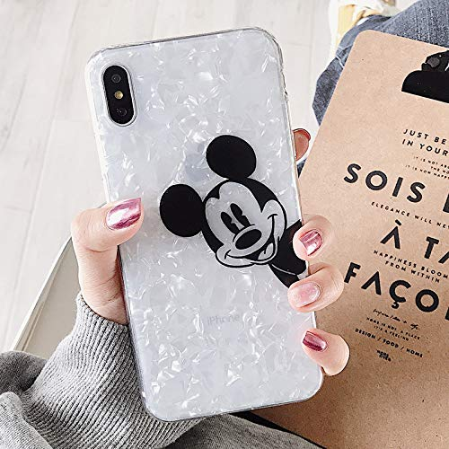 Maxlight Cartoon TPU Phone Case for iPhone 7 8 Plus XS MAX XR Cute Mickey Mouse Minnie Soft Case for iPhone X Plus Coque (B, for iPhone Xs Max) (Iphone 4s Mickey Mouse Case)