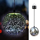TAKEME Solar Lights Outdoor Garden,Hanging Outdoor Decor Lights,Gazing Ball Pendant LED 3D Firework Waterproof Lights Review