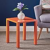 Nantuk Indoor Modern Orange Aluminum 16 Side Table