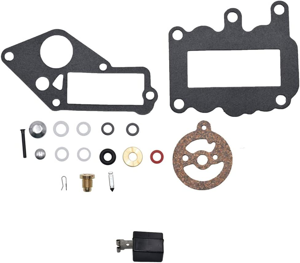 Carbman 382048 Carburetor Repair Rebuild Kits Float for Johnson and Evinrude Outboard 9.5 hp Engine 1964-1973 Replace 379154 765630