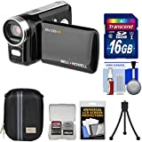 Bell & Howell DV200HD HD Video Camera Camcorder Built-in Video Light 16GB Card + Case + Mini Tripod + Accessory Kit