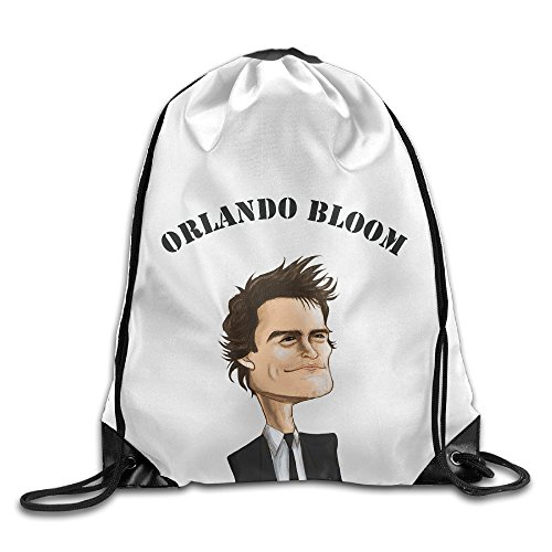 Bekey Orlando Bloom 5 Gym Drawstring Backpack Bags For Men & Women For Home Travel Storage Use Gym Traveling Shopping Sport Yoga Running