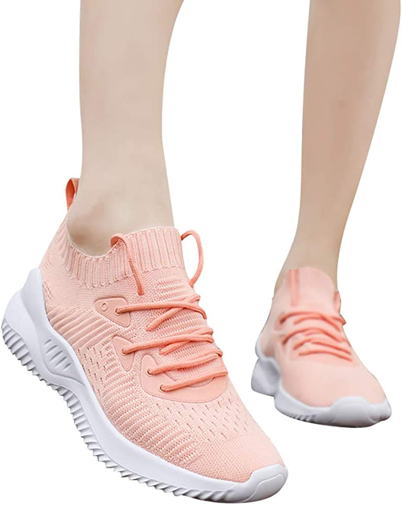 Moonker Womens Athletic Support Walking Shoes Arch Support Sneakers Ladies Woven Mesh Breathable Casual Casual Shoes