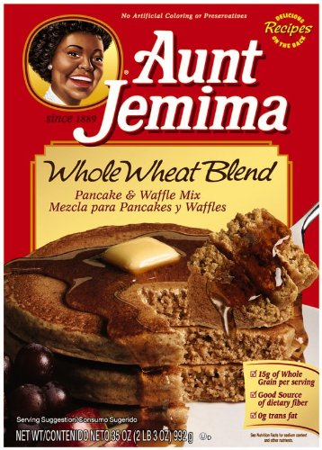 Aunt Jemima Pancake Mix Whole Wheat Blend, 35 Oz (Pack of 6) (Lil Pancake)