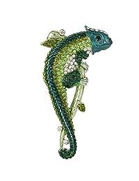 Ever Faith Animal Chameleon Austrian Crystal Brooch