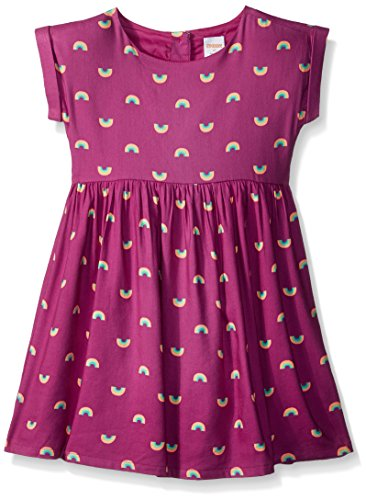 Gymboree Girls' Toddler Short Cuffed Sleeve Fit and Flare Dress, Fuchsia 5T