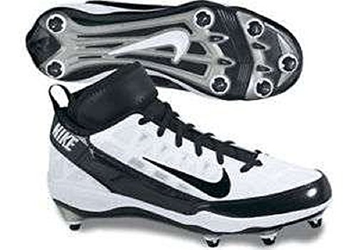 Super Bad 3 D 3/4 White/Black Football Cleats (13.5)