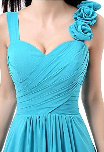 noche de Elegantes XIAOMING Azul Vestido para la largo Aqua mujer de de honor dama 8wqCqErd