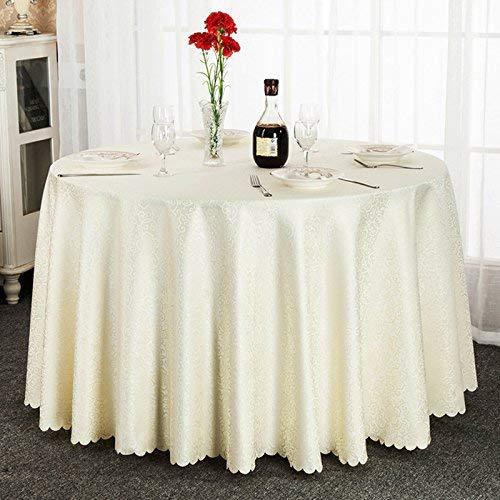 家の装飾布カバー 家の装飾ヨーロッパのホテルのテーブルクロステーブルクロスホテルの宴会のテーブルクロス結婚式のラウンドテーブルクロスダイニング正方形のテーブルクロス布ラウンドテーブルラウンド160 CM、ゴールデン、円形180 cm テーブルクロス (色 : Circular 380cm Splicing, サイズ : Rice white)   B07QRSLVTK