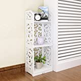 Storage Tower Continental Shelf Floor Storage Unit Creative Bedroom Living Room Decoration Combination Drawer(3 Layer,White,Wood-plastic Board)