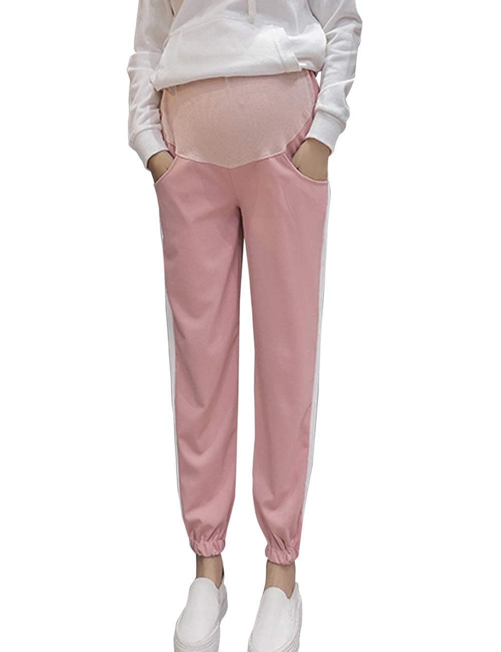 Zhhmeiruian Pregnant Women Cotton Maternity Pants - Maternity Sweatpants Cozy