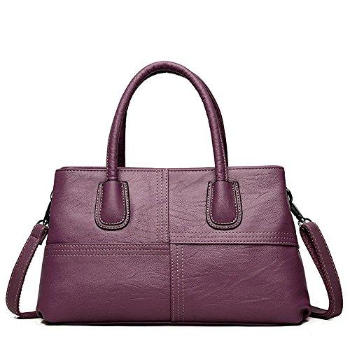 Traverser unique fashion Purple coutures les à ladies bandoulière à étages sac 34cmx10cmx20cm PU deux Penao sac taille dna4xd