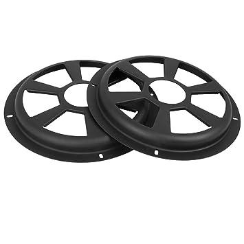 X AUTOHAUX Universal 8 Inch Black Car Audio Speaker Hollow Mesh Subwoofer Grill Cover Protector 2 Pcs