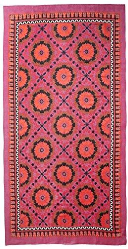 Theodora & Callum Women's Mediterranean Tile Scarf, Magenta/Multi by Theodora & Callum