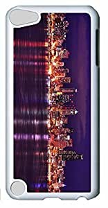 Fashion Customized Case for iPod Touch 5 Cool White Plastic Case Back Cover for iPod Touch 5th with City Sights Kimberly Kurzendoerfer