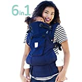 SIX-Position, 360° Ergonomic Baby & Child Carrier by LILLEbaby - The COMPLETE Organic (Blue Moonlight)