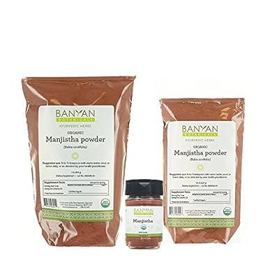Banyan Botanicals Manjistha Powder - USDA Organic - Rubia cordifolia - Cleanses the Blood & Lymph - Ayurveda