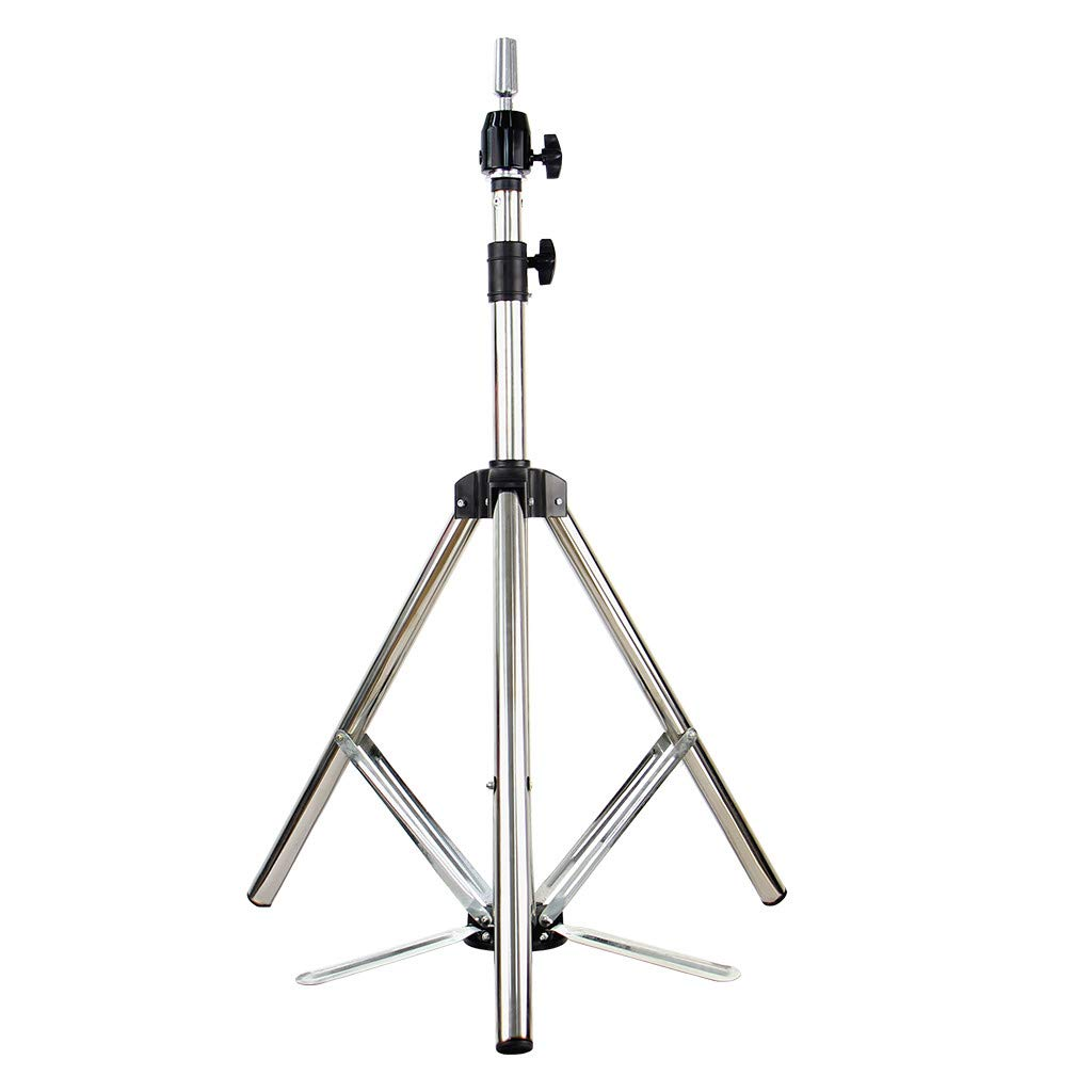 Hairdressing Practice Tripod Adjustable Wig Head Stand Metal Mannequin Head Shelf+Nylon Bag Ship from USA