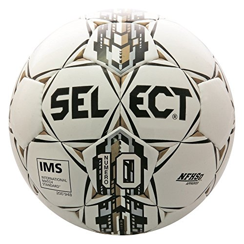 Select Numero 10 Soccer Ball, White/Black/Gold, (Black Ncaa Soccer Ball)