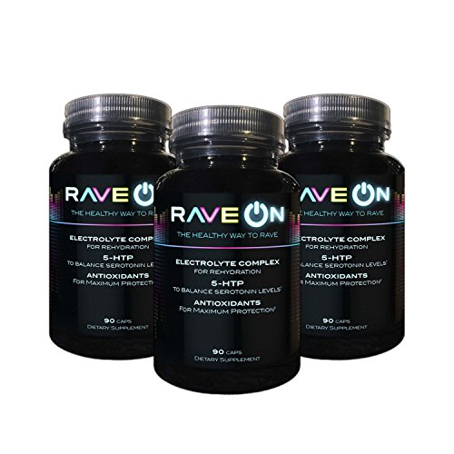 Rave ON: Rave Recovery (90 caps)- 5-HTP, Antioxidants, and Electrolytes For Sale
