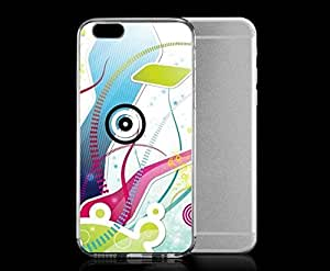 Light weight with strong PC plastic case for iPhone 5 5s Art Illustration Art Abstraction White
