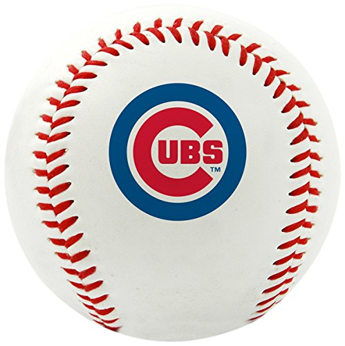 Cubs Logo Baseball - Rawlings MLB Chicago Cubs Team Logo Baseball, Official, White