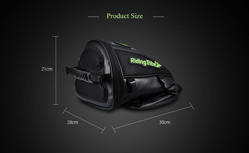 Universal Motorcycle Tank Bag,AUTOLOVER Multifunctional Motobike Backseat Rear Tail Saddle Bag PU Leather Luggage Riding Storage Bag Super Light Tail Accessories Bags Black