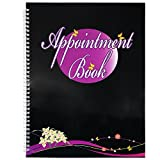Beauticom Undated Hourly Appointment Schedule Planner Organizer Book for Massage Spas, Nail Salons, Therapists, Stylists and More (4 Columns (Black Circle Design))