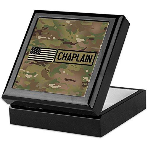 Chaplain Flag - CafePress - Military: Chaplain (Camo) - Keepsake Box, Finished Hardwood Jewelry Box, Velvet Lined Memento Box