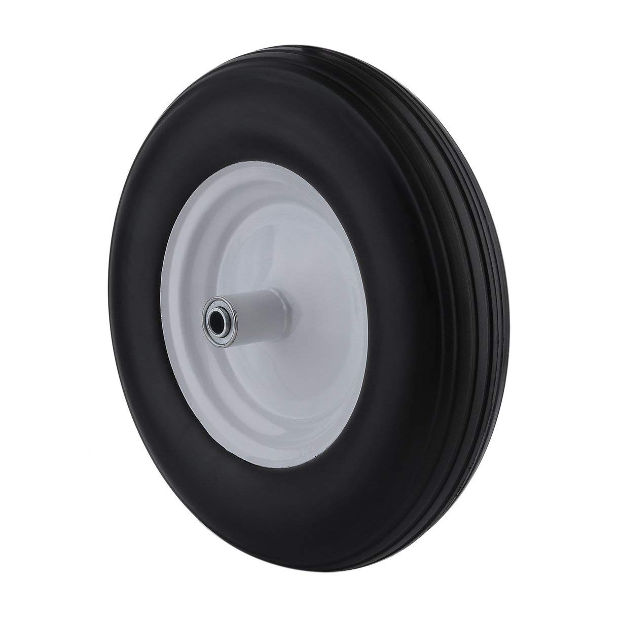 Rubber Wheelbarrow Tires 16 Inch Cart Wheel Tyre Heavy Duty Solid Tire Wheel Barrow Replacement Wheel Wagon Tyre