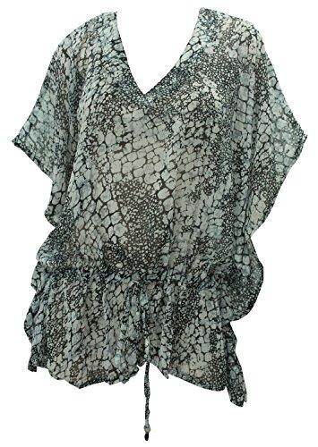 La Leela Sheer Chiffon Printed beachwear sundress Long maxi Blouse tank plus size Tank Top Vacation Autumn Winter - Day 2014 Thanksgiving Offers