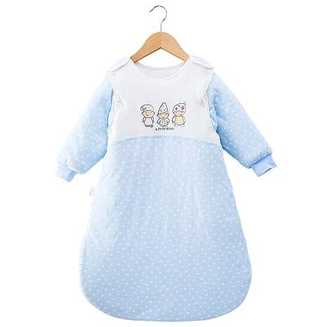 Saco de dormir para bebé Mangas desmontables Invierno gruesa Saco de dormir cálido 3.5 Tog para