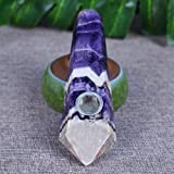 Natural Dream Amethyst Crystal Quartz Healing Tube
