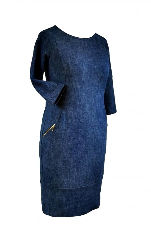 Berry® Elegantes Jeans-optik kleid mit Taschen Gr. 38-48
