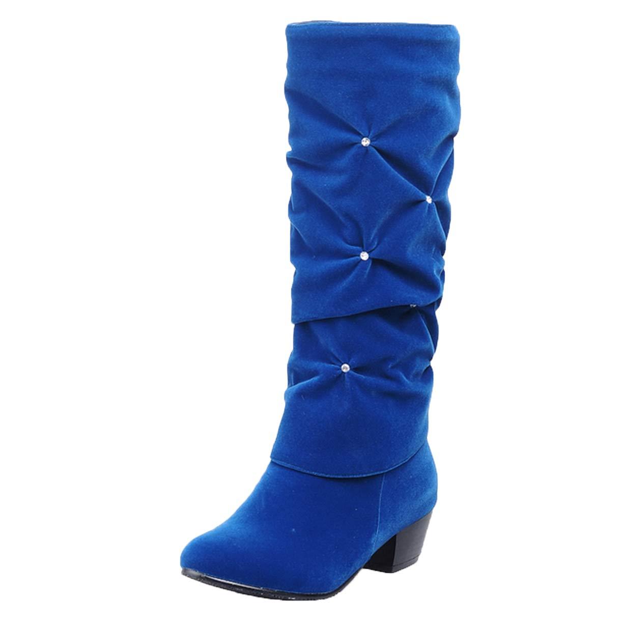 JYshoes Bottes , Bottes Bleu Classiques Femme JYshoes Bleu f476fe1 - boatplans.space