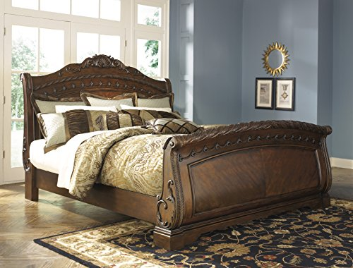 (Ashley North Shore 5/0 Queen Sleigh Bed B553 ...Best Seller )