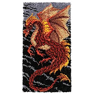 Craftways Storm Dragon Latch Hook Kit