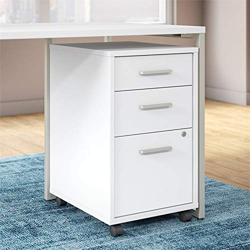 Office by kathy ireland Method 3 Drawer Mobile File Cabinet in White