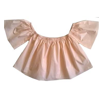 4078122b8fe34 Tee Shirt ou Top Fille col Bardot PM Loving Rose pâle Taille DE 10 à ...