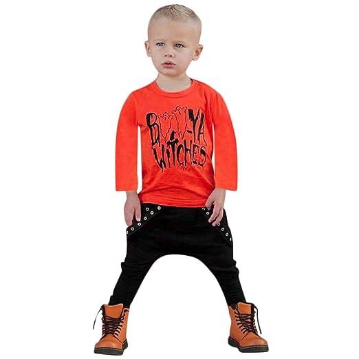 c160b474ff4e Amazon.com  Kids Baby Pants Set Children Clothes Long Sleeve T-Shirt ...