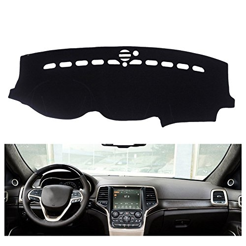 FLY5D Dashboard Cover Dash Mat Pad for Jeep Grand Cherokee 2011-2017 (Jeep Grand Cherokee 2011-2017, Black)