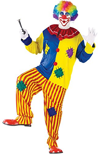 Fun World Women's Big Top Clown Adult Costume, Multi, Standard