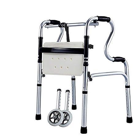 Yxsd - Andador de muletas para Ancianos, multifunción, Cuadrado ...