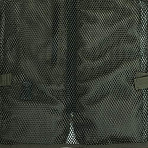フィッシングベスト 男性フォトジャーナリスト釣りノースリーブタンクトップ春の戦場のオーバーコートのための春のベスト (Color : Green, Size : XL)