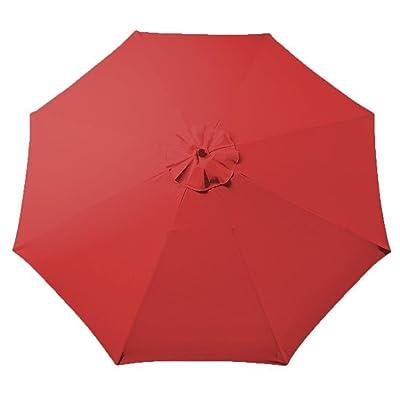 Red 9ft Outdoor Patio Umbrella Replacement Top Canopy : Garden & Outdoor