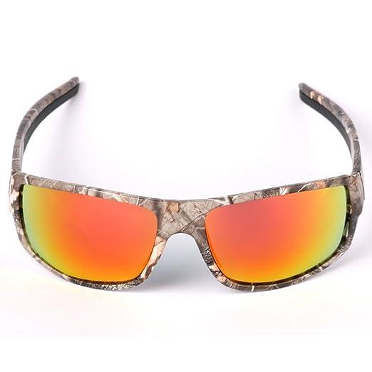 Polaroid Sonnenbrille zum Angeln für Herren, mit Camouflage-Rahmen, für Aktivitäten im Freien wie Sport, Jagd, Angeln, unisex, Lenses colour:Polarized tea