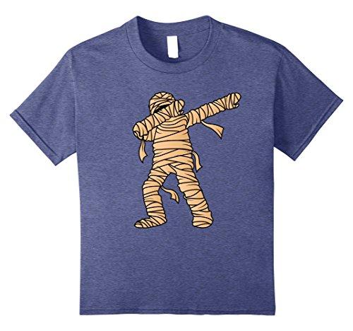 Kids Dabbing Mummy T-Shirt - Mummify Dab Dance Halloween Costume 8 Heather Blue -