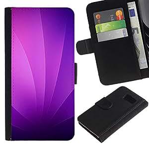 NEECELL GIFT forCITY // Billetera de cuero Caso Cubierta de protección Carcasa / Leather Wallet Case for Samsung Galaxy S6 // Remolinos púrpuras