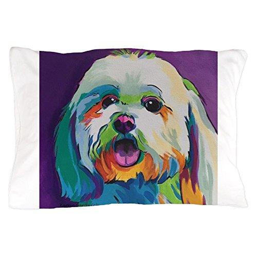 CafePress Dash The Pop Art Dog Standard Size Pillow Case, 20
